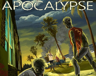 Tampa, Florida - Zombie Apocalypse (Art Prints available in multiple sizes)