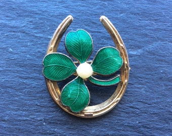 Shamrock good luck pin brooch clover St. Patrick's Day