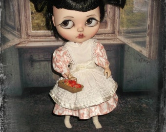 Blythe ~ 1900s Style  Dress and Pinafore ~ 2 Piece Outfit Vintage Inspired  ~  By KarynRuby