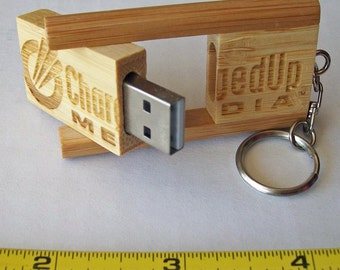 Wooden (Bamboo) USB Flash or Jump Drives (8GB)