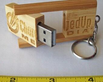 Wooden (Bamboo) USB Flash or Jump Drives (8GB)