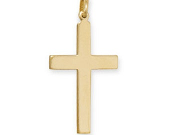 14K 20K Gold Filled Cross Pendant for Men & Women
