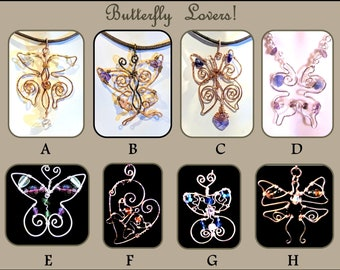 wift gift - Butterfly lovers - butterfly jewelry - butterfly necklace - butterflies -nature lover - mother daughter jewelry,most popular