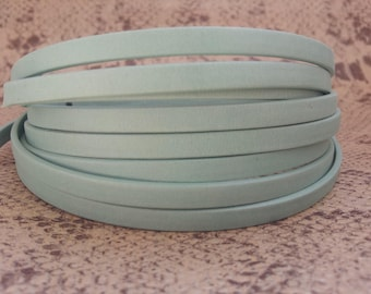 5mm flat lined green high quality European leather strap