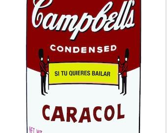 "Original digital illustration print: ""Sopitas Campbells"", 16"" x 20"""