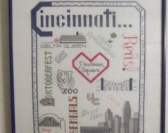 Cincinnati Counted Cross Stitch Picture
