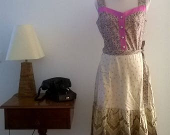 Cute vintage sundress, years 70. Cotton. Size 40