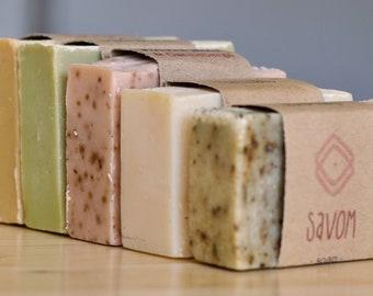 6 bars of SOAP, natural (Vegan)