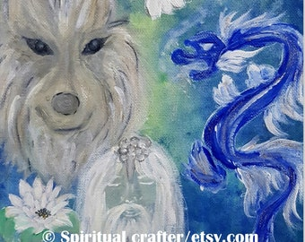 Personalized Channeled Art  Reading for your Prayer Room or Angel Altar, Custom Soul Art and Reading for self healing and spiritual growth.