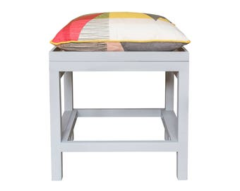 Upcycled Multifunctional Footstool, Sidetable and Handmade Tray