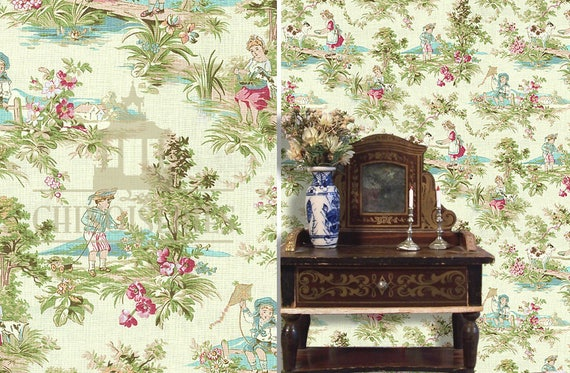 Dollhouse Miniature Wallpaper, Peace, Scale One Inch
