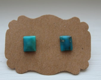 Turquoise Earrings, Genuine Turquoise Studs, Genuine Turquoise Posts, Sterling Silver, Sterling Silver Turquoise Earrings, Turquoise Jewelry