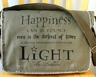 Harry Potter Quote Canvas Messenger Bag Laptop Bag Crossbody Bag