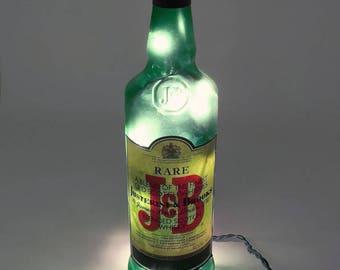 J&B Rare Bourbon Whiskey Bottle Light / Gifts for Men / Gift Ideas