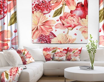 Designart Flowers beyond the Edges Floral Wall Tapestry, Wall Art Fit for Wall Hanging, Dorm, Home Decor