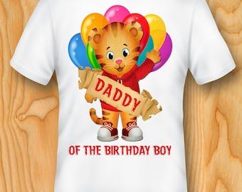 Daddy of the birthday boy Daniel Tiger T-shirt, Daniel Tiger T-shirt, Daniel Tiger Iron on T-shirt, Daniel Tiger Party, Daniel Tiger