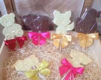 Animal lollipops - Belgian chocolate