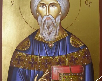Saint Bonifatius, christian orthodox icon, original hagiography, άγιος Βονιφάτιος, hand painted on request, βυζαντινή αγιογραφία, Икона