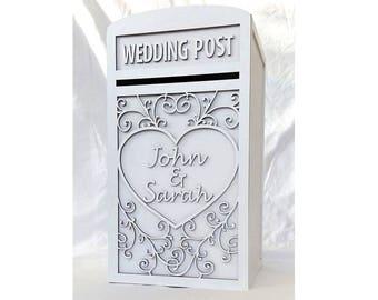 Personalised Wedding Card Post Box - 'Elegance' Design