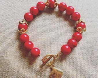 Howlite root chakra bracelet