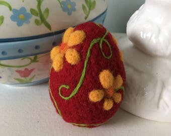 Easter Egg, needle felted egg, Needle felted Easter egg, Easter decoration, Spring decoration, decorative  egg, colourful egg, Easter gift