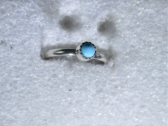 genuine Arizona turquise gemstone handmade sterling silver solitaire ring sz 7 - turquoise jewelry - natural turquoise