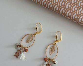"Earrings ""An air of autumn"" leaf"