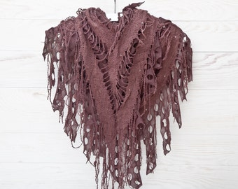 Brown Summer Scarf Beautiful Lace Shawl Fashion Accessories Cute Valentine's Day Gift Wrap Scarf Grandma Gift