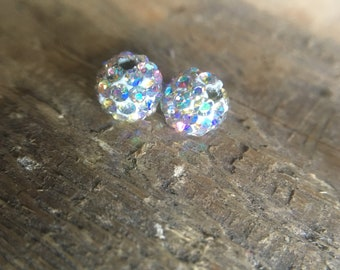 Clear AB Czech Crystal Rhinestones Beads, Pave Clay Round Disco Ball, Spacer Beads, 6mm 8mm 10mm 12mm beads
