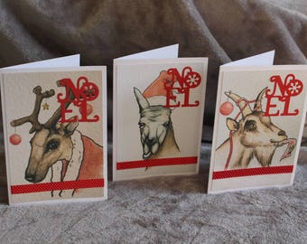 Animal Christmas cards pack of 20