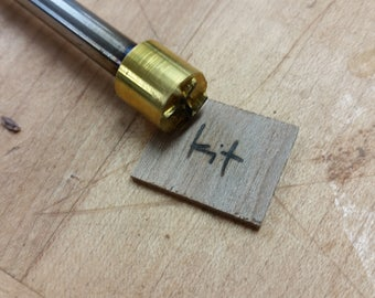"1/2"" Round Custom Artwork Branding Iron"