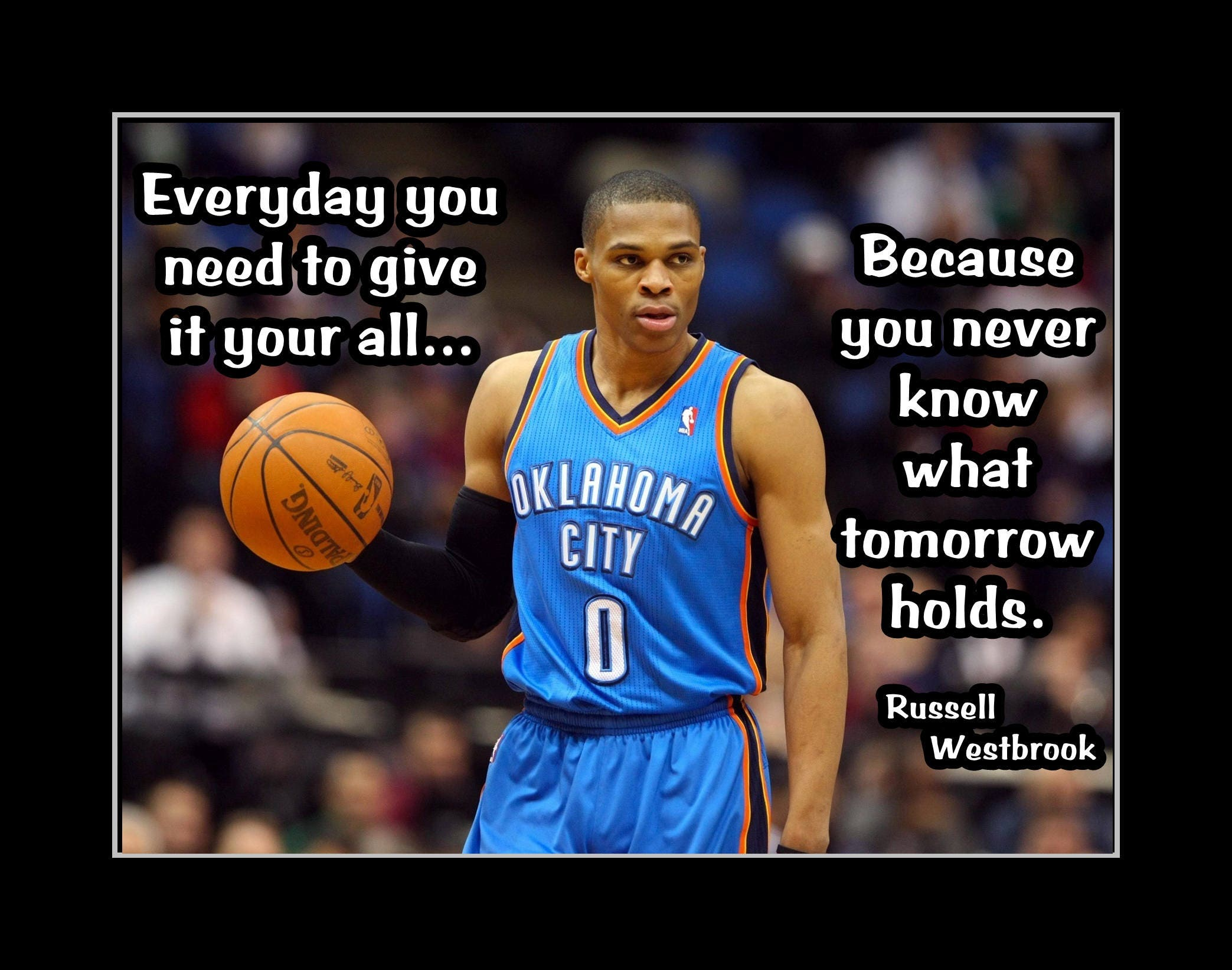 NBA Basketball Motivation Quote Poster Gift Inspirational