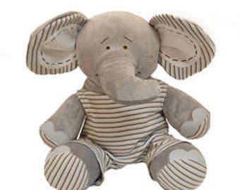 Personalized Stuffed Elephant