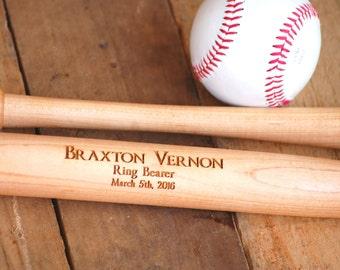 3 Groomsmen, Personalized Baseball Bat Bachelor Party, Groomsman Gift, Ring Bearer Gift, Usher Gift, Wedding Party Gift, Father of the Groom