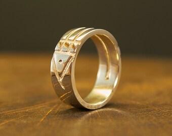 Sterling Silver Atlantis Ring, Atlantis Bague, Atlantis Jewelry, Symbolism, Talisman, Mascot, Egyptian Ring, Energy Ring, Protection Ring