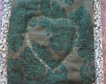 Green Heart Potholders- QuiltsbyShirley