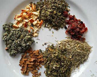 Razzlemint Herbal Tea - Healthy Loose Leaf Herb Tea - All Natural Herbal Tea - Caffeine Free Tea - Tea Lover's Gift - Boondock Enterprises