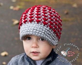 Crochet hat pattern, quicky Newsboy hat pattern, bulky crochet hat pattern, Permission to sell, newborn, infant, mens newsboy hat, easy