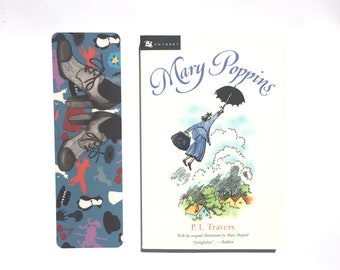 MARY POPPINS bookmark story-inspired faerie tale feet mary poppins painting p.l. travers book art