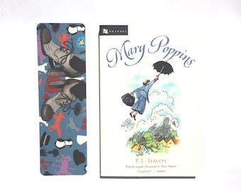 Pieds de MARY POPPINS marque-page fée histoire d'inspiration mary poppins peinture p.l. livre d'art travers