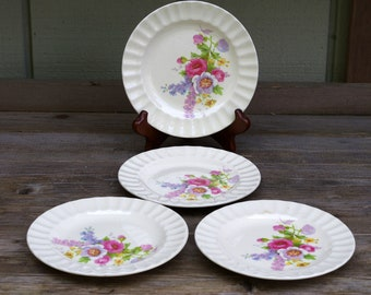 Edwin M. Knowles Spring Bouquet Bread and Butter Plates