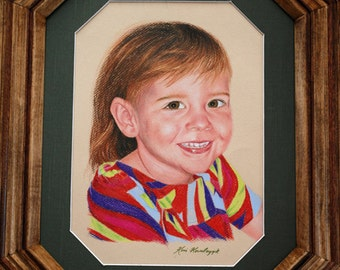 Example of custom 11x14 colored pencil portraits