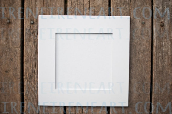 Single 12x12 Precut White Art Mats For 8x8 Art 12x12 Pre