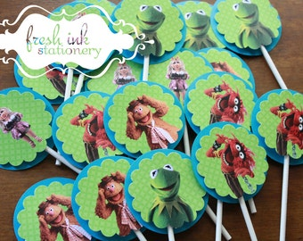 AS IS 18 Muppet Cupcake Tops