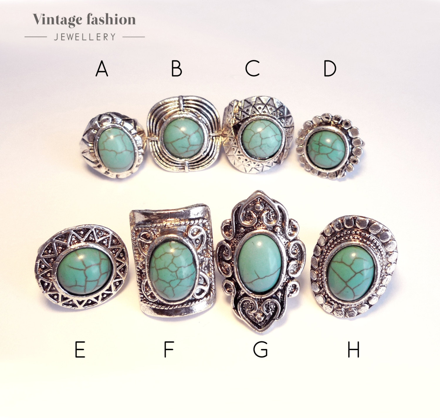 ring eagle rings turquoise size silver shop triple green bc long img stone