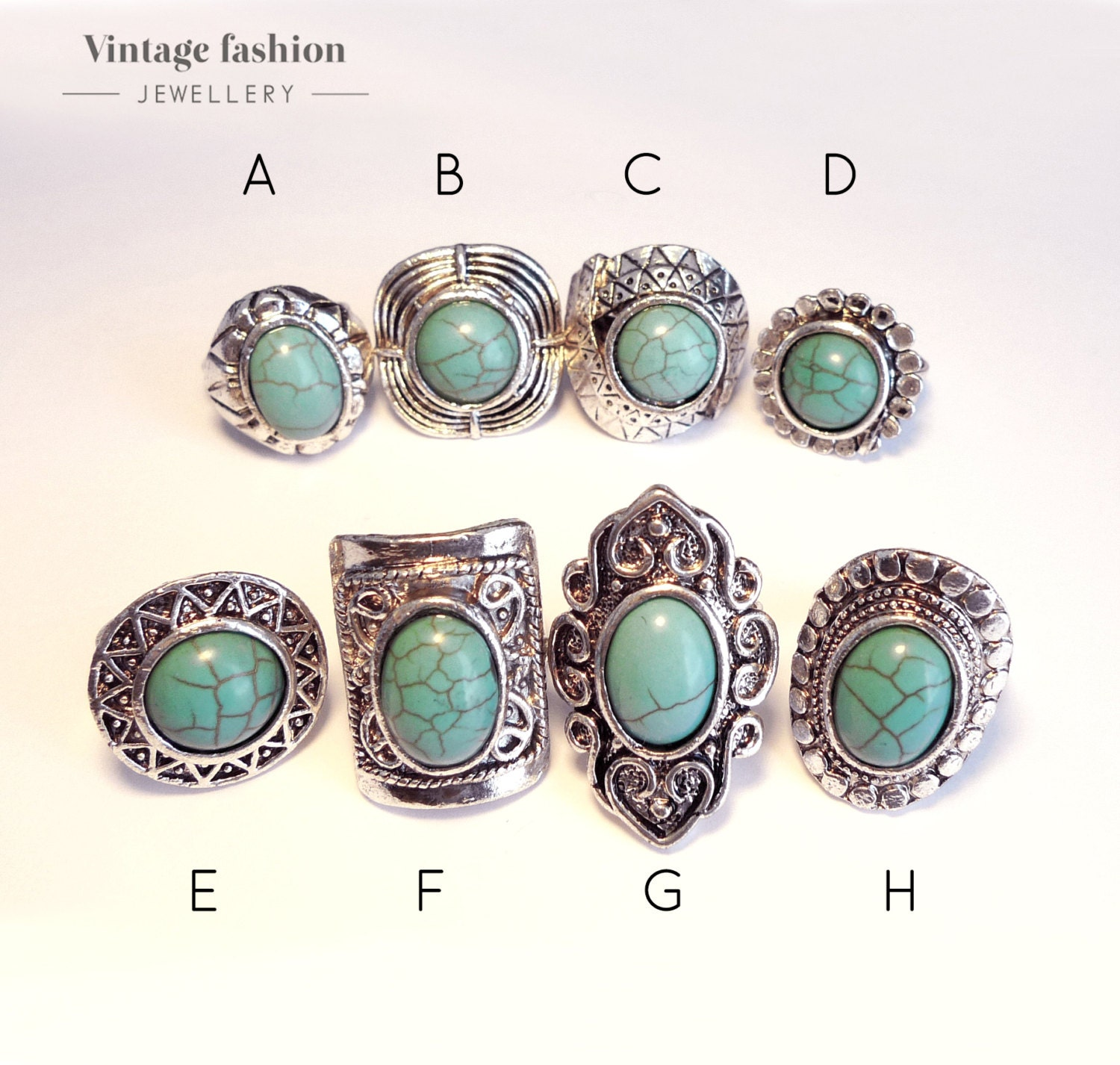 f buy clear turquoise rings quartz it and prong stone bronze rock ring in candy set