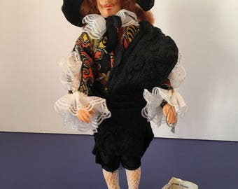 Peggy Nisbet Doll ~ The Laughing Cavalier ~ Historical Doll ~ Handmade in England ~ Collectible  ~ Vintage