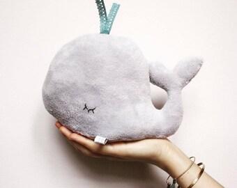 Grey Whale Soft Toy - Sea animal softie plushie