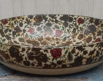 Vintage Japan Paper Mache Decorative Bowl!
