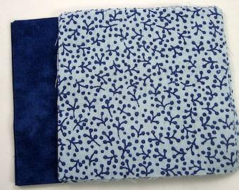 Blue Print und Solid Blue Stoff 20-4 Zoll Stoff Quilt-Plätze